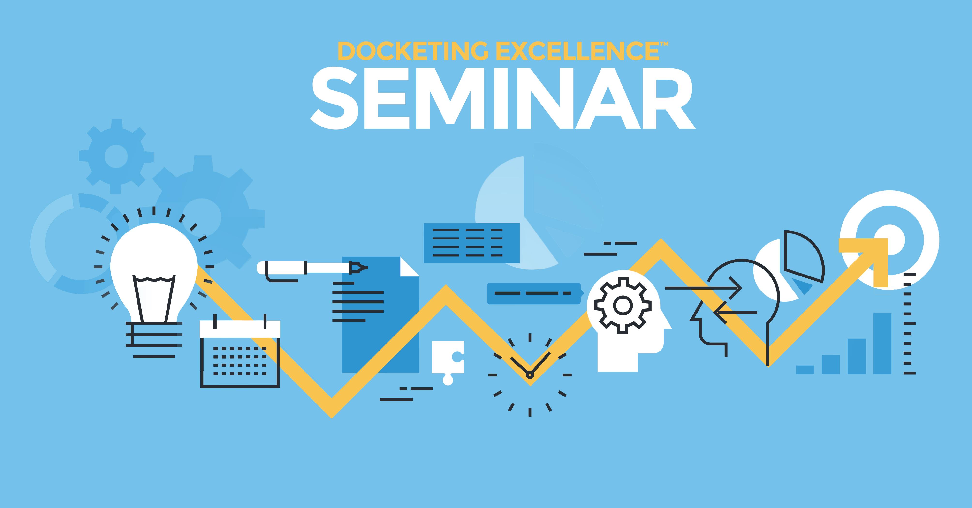 Docketing Excellence Webinar Banner
