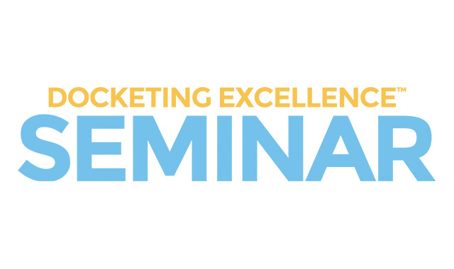 Docketing Excellence Seminar Logo