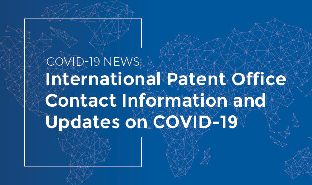 Intl Patent Offices COVID-19 News
