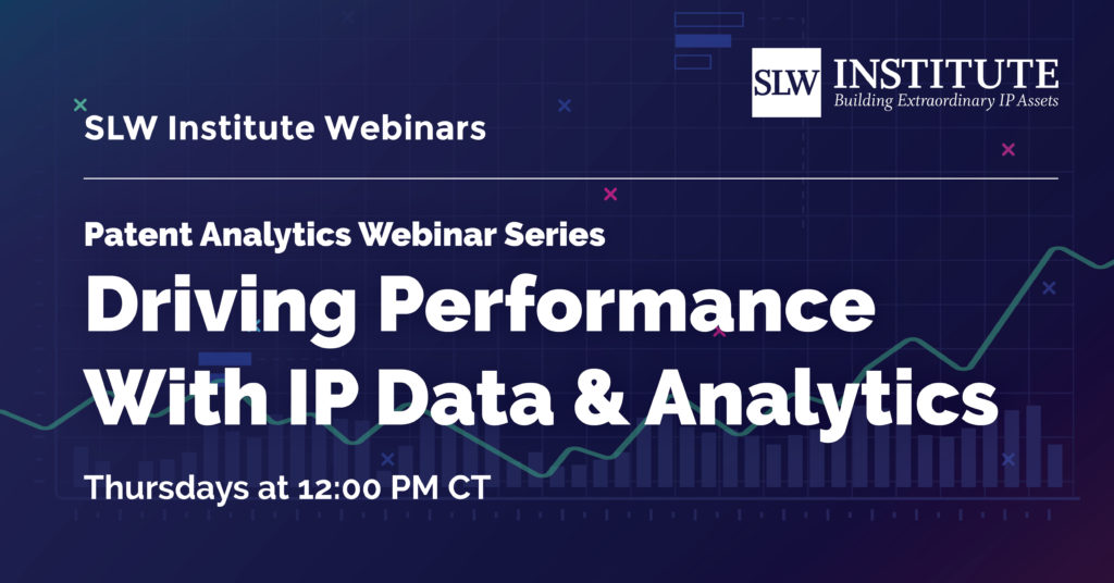 Patent Analytics Webinar Series Banner